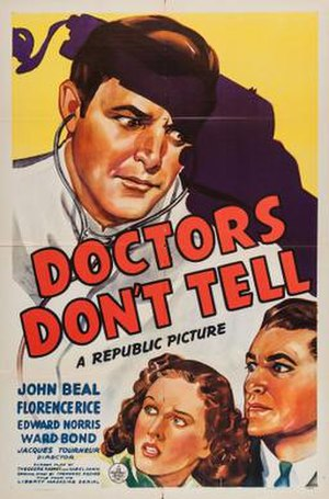 Doctors Don't Tell - Theatrical release poster