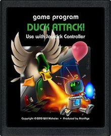 Duck Attack! (Atari 2600) cartridge art.jpg