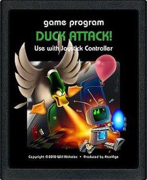 Duck Attack! - Image: Duck Attack! (Atari 2600) cartridge art
