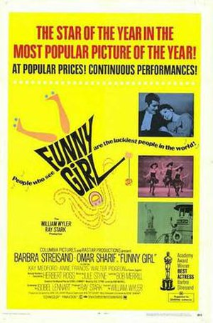 Funny Girl (film) - Post-Oscar release poster