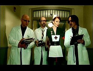"""Bleed Like Me (song) - Garbage in character in the """"Bleed Like Me"""" video."""