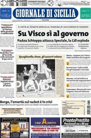 Giornale di Sicilia - Image: Giornale di Sicilia frontpage