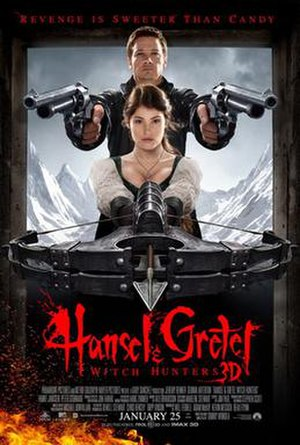 Hansel & Gretel: Witch Hunters - Theatrical release poster