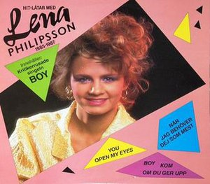 Hitlåtar med Lena Philipsson 1985–1987 - Image: Hitlåtar med Lena Philipsson 1985–1987 cover