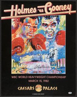 Larry Holmes vs. Gerry Cooney Boxing competition