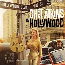 The 1961 LP re-issue and CD cover of re-issue of Chet Atkins in Hollywood