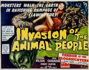 Space Invasion of Lapland - Theatrical release half-sheet display poster  Co-feature: Terror of the Bloodhunters
