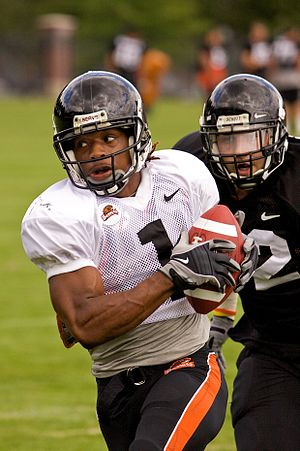 Jacquizz Rodgers - Rodgers during 2009 fall camp at Oregon State