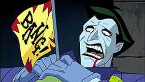 "Batman Beyond: Return of the Joker - ""That's not funny..."" The Joker's death in the uncut version (PG-13)."