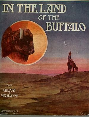 In the Land of the Buffalo - Cover, sheet music, 1909