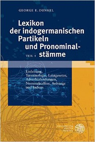 Lexikon der indogermanischen Partikeln und Pronominalstämme - Image: Lexikon der indogermanischen Partikeln und Pronominalstämme