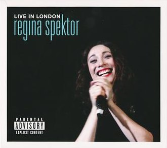Live in London (Regina Spektor album) - Image: Live in london regina spektor album cover