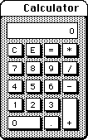 Calculator (macOS) - The calculator as it shipped in 1984.