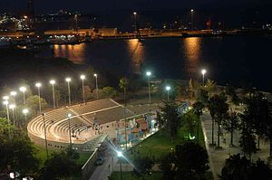 Chukurova - Mersin Amphitheater overlooking the Mediterranean Sea.