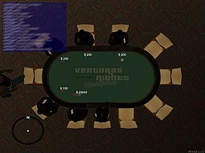 """Multi Theft Auto - A third-party minigame """"resource"""" that transforms the game into a poker match."""