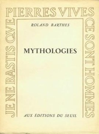 Mythologies (book) - Cover of the first edition