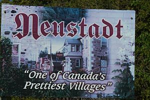 Neustadt, Ontario - The village sign as of 2008