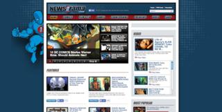 <i>Newsarama</i> American website based around comic books