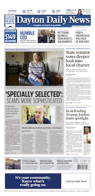 Dayton Daily News - Front page on March 3, 2019