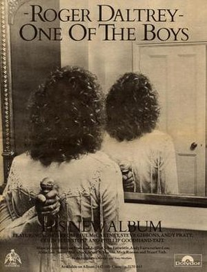 One of the Boys (Roger Daltrey album) - An advert for the album.