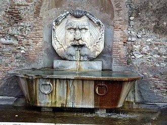 Orange Garden, Rome - Fountain at the entrance to the Orange Garden