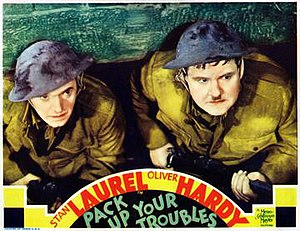 Pack Up Your Troubles (1932 film) - US lobby card