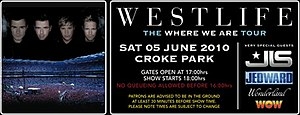Where We Are Tour (Westlife) - Promotional poster for tour