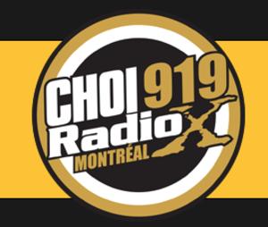 CKLX-FM - Logo as CHOI Radio X Montreal, 2012-2014.