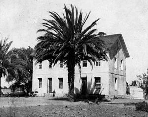 Rancho Los Encinos - Rancho Los Encinos: The Garnier building in 1900