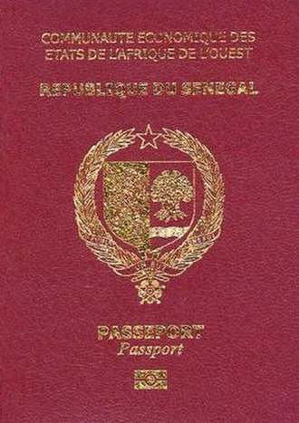 Senegalese passport - The front cover of a contemporary Senegalese passport.