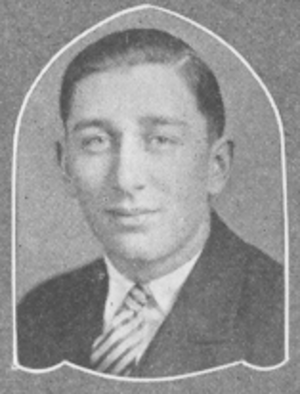 Carl Roth (basketball) - Roth pictured in the 1927 Sheboygan High School Yearbook