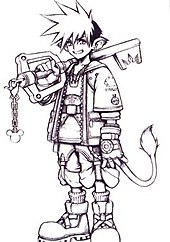 Concept Artwork Of Sora By Tetsuya Nomura