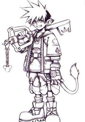 Sora (Kingdom Hearts) - Concept artwork of Sora by Tetsuya Nomura