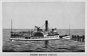 Steamer Martha's Vineyard, from an 1890s souve...