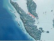 Strait of Malacca, (narrows).