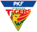 The current Tigers logo as adopted in 1995–96.