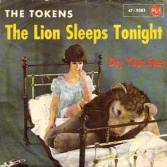 The Lion Sleeps Tonight - Image: The Lion Sleeps Tonight by The Tokens single cover