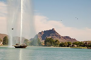 Mount McDowell - Red Mountain from Fountain Hills, Arizona