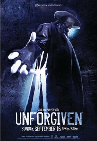 Unforgiven (2007) - Promotional poster featuring The Undertaker