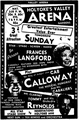Valley Arena Gardens Sunday Music Lineup January 1950.png
