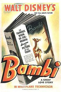 <i>Bambi</i> 1942 American animated Disney drama film directed by David Hand