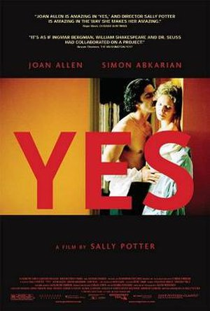 Yes (film) - Poster for Yes