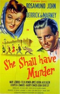 <i>She Shall Have Murder</i> 1950 film by Daniel Birt