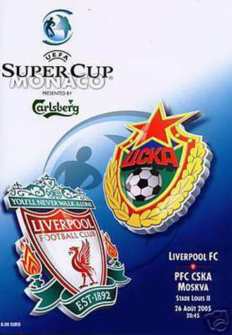 2005 UEFA Super Cup - Match programme cover