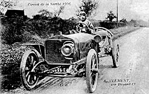 Clément-Bayard - Albert Clément driving a Clément-Bayard at the French Grand Prix 1906