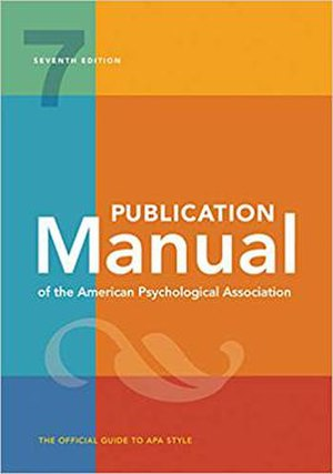 Cover of Publication Manual of the American Psychological Association.