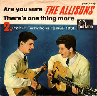 Are You Sure? (The Allisons song) - Image: Are You Sure? The Allisons