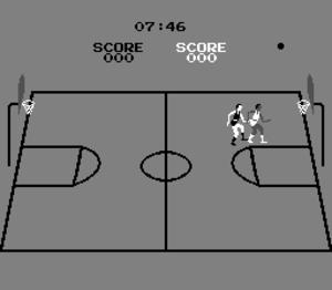 Basketball (1979 video game) - Single player versus computer gameplay