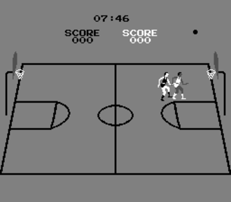 Basketball (1979 video game) - Single player versus computer gameplay