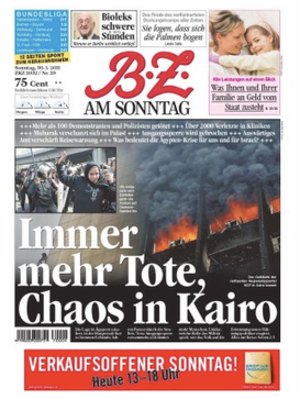 B.Z. (newspaper) - Image: BZ front page